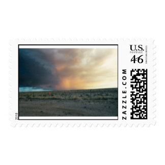 Storm at Sunset Postage Stamp