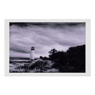 Storm at the Lighthouse Print