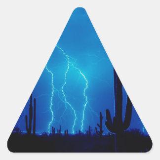 Storm Blue Furious Triangle Sticker