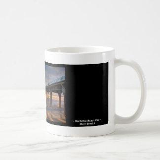 Storm Break I ~  Manhattan Beach Pier Classic White Coffee Mug