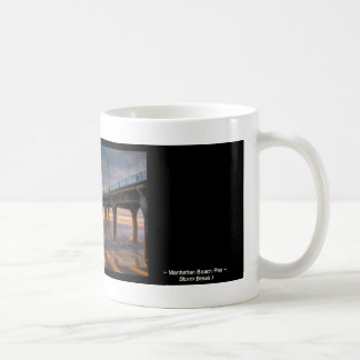 Storm Break I ~  Manhattan Beach Pier Coffee Mug