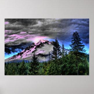Storm Brew Mount Hood Poster