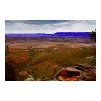 Storm brewing in the Flinders Ranges Poster