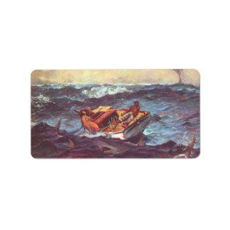 Storm by Winslow Homer Custom Address Labels