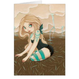 Storm Caster - Goth fairy lightning Card
