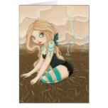 Storm Caster - Goth fairy lightning Greeting Card