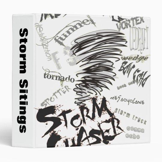 Storm Chaser 3 Ring Binder