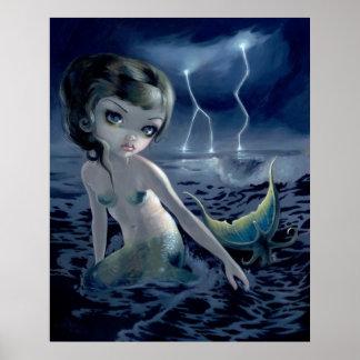 Storm Chaser ART PRINT mermaid gothic fantasy