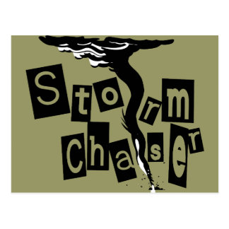 Storm CHaser Box Letters Postcard