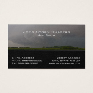 Storm Chaser Business Card