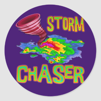 Storm Chaser Classic Round Sticker
