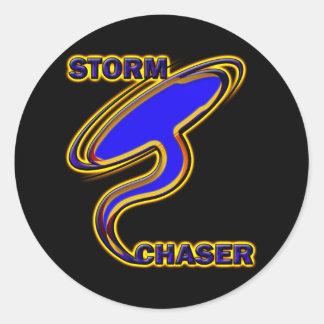 STORM CHASER CLASSIC ROUND STICKER