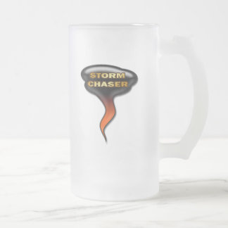STORM CHASER FROSTED GLASS BEER MUG