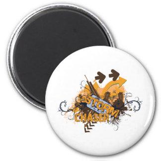 Storm Chaser Grunge 2 Inch Round Magnet