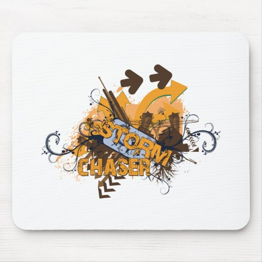 Storm Chaser Grunge Mouse Pad