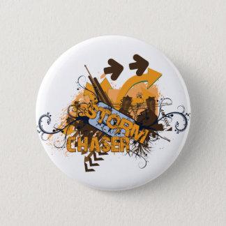 Storm Chaser Grunge Pinback Button