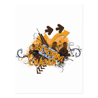 Storm Chaser Grunge Postcard
