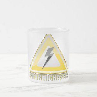 Storm Chaser Lightning 2 Frosted Glass Coffee Mug