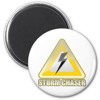 Storm Chaser Lightning 2 2 Inch Round Magnet