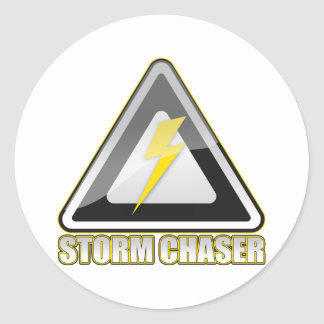 Storm Chaser Lightning Classic Round Sticker