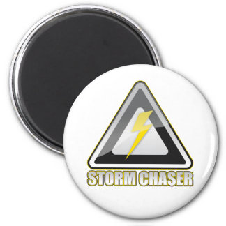 Storm Chaser Lightning 2 Inch Round Magnet
