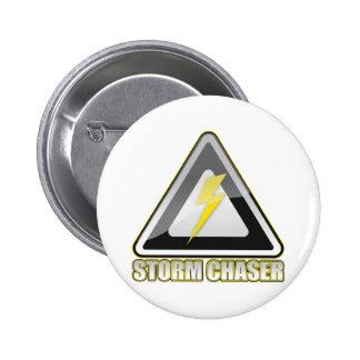 Storm Chaser Lightning Pinback Button