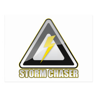 Storm Chaser Lightning Postcard
