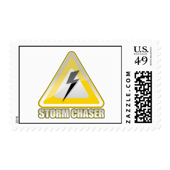 Storm Chaser Lightning Sign Postage