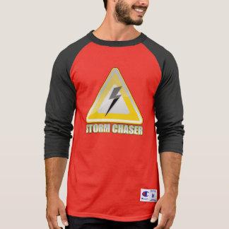 Storm Chaser Logo Yellow Warning Sign T-shirts