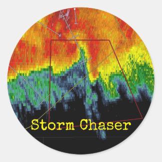 Storm Chaser Radar Image Classic Round Sticker