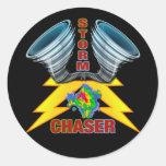 Storm Chaser Round Stickers