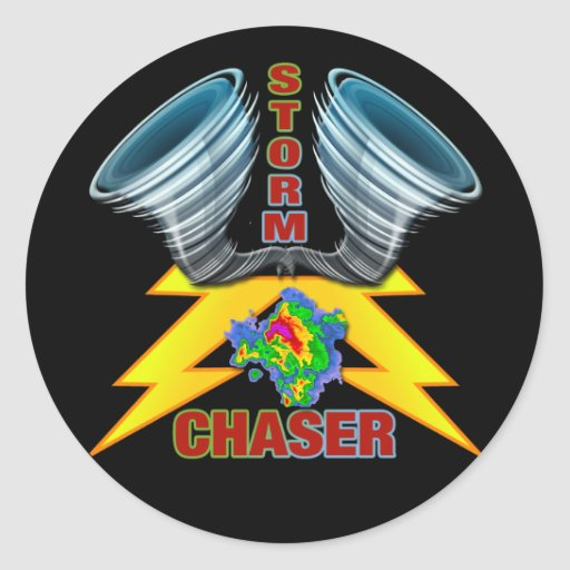 Storm Chaser Round Stickers