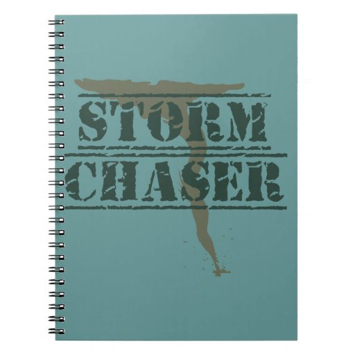 Storm Chaser Rubber Stamp and Funnel Notebook