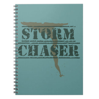 Storm Chaser Rubber Stamp and Funnel Spiral Notebook