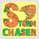 Storm Chaser Square Stickers