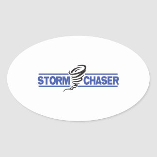 STORM CHASER OVAL STICKER