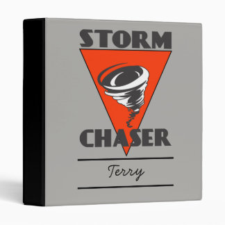 Storm Chaser Tornado and Red Triangle Binder