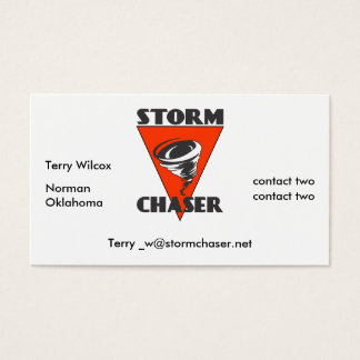 Storm Chaser Tornado and Red Triangle Business Card