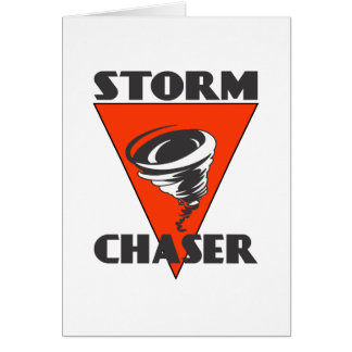 Storm Chaser Tornado and Red Triangle Card