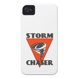 Storm Chaser Tornado and Red Triangle iPhone 4 Covers