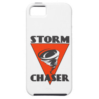 Storm Chaser Tornado and Red Triangle iPhone 5 Case