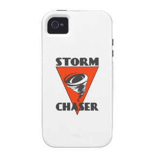 Storm Chaser Tornado and Red Triangle iPhone 4/4S Cases