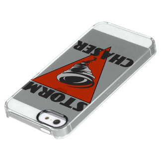 Storm Chaser Tornado and Red Triangle Clear iPhone SE/5/5s Case