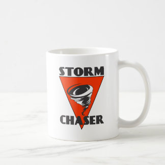 Storm Chaser Tornado and Red Triangle Coffee Mug