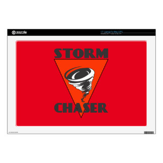 Storm Chaser Tornado and Red Triangle Decal For Laptop