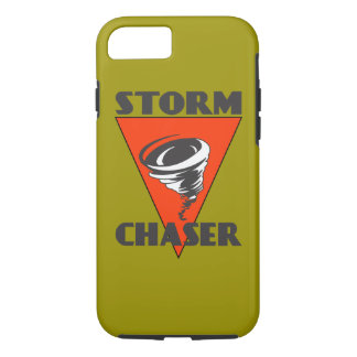 Storm Chaser Tornado and Red Triangle iPhone 8/7 Case