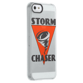 Storm Chaser Tornado and Red Triangle Uncommon Permafrost® Deflector iPhone 5 Case