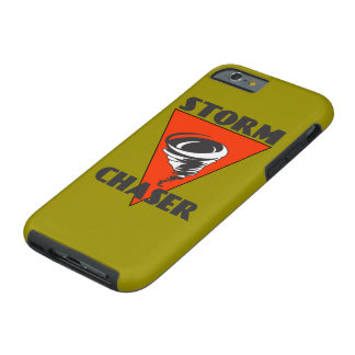 Storm Chaser Tornado and Red Triangle Tough iPhone 6 Case