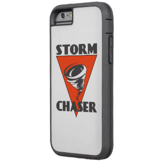 Storm Chaser Tornado and Red Triangle Tough Xtreme iPhone 6 Case