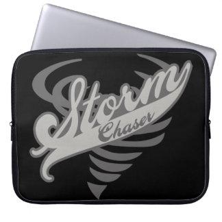 Storm Chaser Tornado Twister Logo Laptop Sleeves